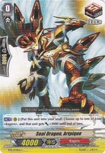 Cardfight Vanguard ENGLISH Seal Dragons Unleashed Single Card Common BT11/074 Seal Dragon, Artpique