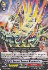 Cardfight Vanguard ENGLISH Seal Dragons Unleashed Single Card Common BT11/075 Ancient Dragon, Stegobuster