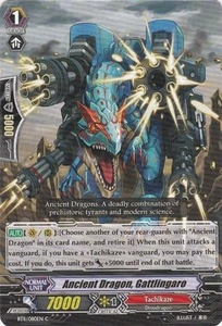 Cardfight Vanguard ENGLISH Seal Dragons Unleashed Single Card Common BT11/080 Ancient Dragon, Gattlingaro