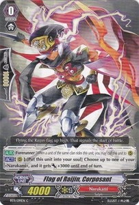 Cardfight Vanguard ENGLISH Seal Dragons Unleashed Single Card Common BT11/091 Flag of Raijin, Corposant