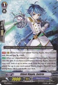 Cardfight Vanguard ENGLISH Seal Dragons Unleashed Single Card Common BT11/095 Silent Ripple, Sotirio