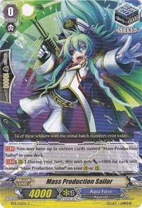 Cardfight Vanguard ENGLISH Seal Dragons Unleashed Single Card Common BT11/102 Mass Production Sailor