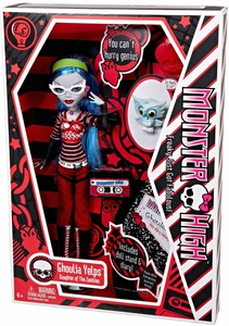 Monster High Deluxe Doll Ghoulia Yelps with Pet Owl Sir Hoots A Lot [Doll Stand & Diary]