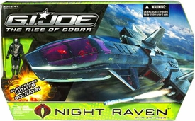 GI Joe Movie The Rise of Cobra Vehicle Night Raven with Air-Viper Action Figure