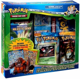 Pokemon Majestic Dawn Collector's Poster Box [Random Theme Deck, 3 Booster Packs, Yanmega Foil Promo Card & Poster]