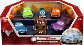 Disney / Pixar CARS 2 Movie Exclusive Die Cast Car 6-Pack Playset Spy Battle Damaged Package, Mint Contents!