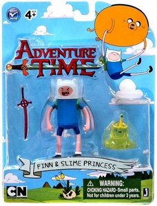 Adventure Time 3 Inch Figure 2-Pack Finn with Slime Princess