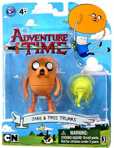 Adventure Time 3 Inch Figure 2-Pack Jake with Tree Trunks