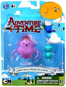 Adventure Time 3 Inch Figure 2-Pack Lumpy Space Princess with Brad