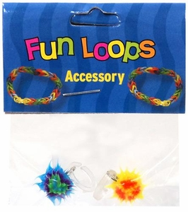 Fun Loops Rubber Band Bracelet 2-Pack Spikey Charms