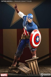 Sideshow Collectibles Marvel 1/4 Scale Premium Format Polystone Statue Captain America Pre-Order ships August