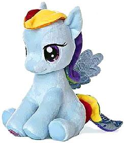 Aurora My Little Pony Friendship is Magic LARGE 10 Inch Plush Rainbow Dash [Sitting] New!
