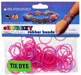 Undee Bandz Rubbzy 100 Pink & Purple Tie-Dye Rubber Bands with Clips