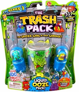 Trash Pack Series 3 Trashies Liquid Ooze Pack [Includes 6 Trashies & Ooze]