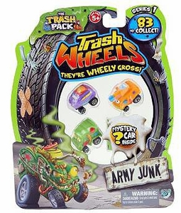Trash Pack Wheels Mini Figure 4-Pack [3 Random Figures & 1 Mystery Figure]