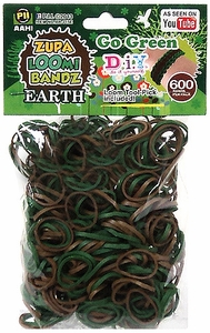 D.I.Y. Do it Yourself Bracelet Zupa Loomi Bandz 600 Earth Tone Rubber Bands with 'S' Clips