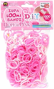 D.I.Y. Do it Yourself Bracelet Zupa Loomi Bandz 600 Pink & White Rubber Bands with 'S' Clips