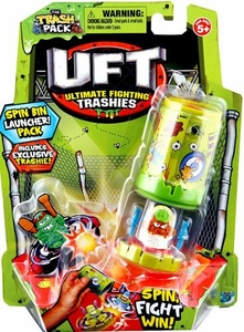 Trash Packs UFT Ultimate Fighting Trashies Spin Bin Launcher Pack [1 Random Mini Figure & Launcher]