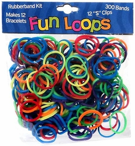 Fun Loops 300 Multi-Color Rubber Bands with 'S' Clips