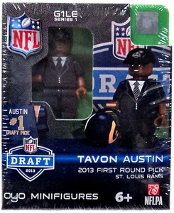 OYO Football NFL Draft First Round Picks Building Brick Minifigure Tavon Austin [St. Louis Rams] #8 Draft Pick