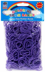 Colorful Loom Bands 600 PURPLE Rubber Bands