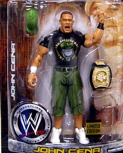 WWE Wrestling Ruthless Aggression Exclusive Action Figure John Cena in Marine Gear with Painted Spinner Belt