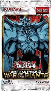 YuGiOh War of the Giants: Battle Pack Booster Pack Hot!