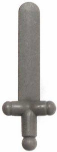 LEGO LOOSE Weapon Dark Gray Norman Sword