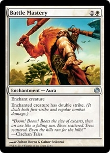 Magic: The Gathering Duel Decks: Heroes vs. Monsters Single Card White Uncommon #27 Battle Mastery