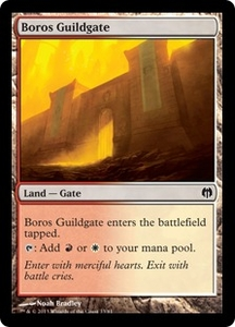 Magic: The Gathering Duel Decks: Heroes vs. Monsters Single Card Land Common #33 Boros Guildgate