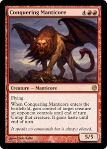 Magic: The Gathering Duel Decks: Heroes vs. Monsters Single Card Red Rare #55 Conquering Manticore