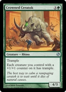 Magic: The Gathering Duel Decks: Heroes vs. Monsters Single Card Green Uncommon #51 Crowned Ceratok