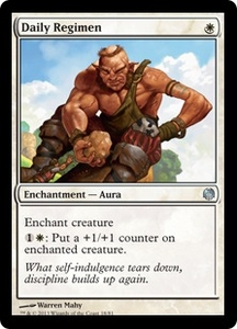 Magic: The Gathering Duel Decks: Heroes vs. Monsters Single Card White Uncommon #18 Daily Regimen