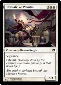 Magic: The Gathering Duel Decks: Heroes vs. Monsters Single Card White Common #14 Dawnstrike Paladin