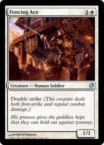 Magic: The Gathering Duel Decks: Heroes vs. Monsters Single Card White Uncommon #5 Fencing Ace