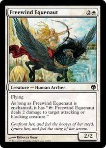 Magic: The Gathering Duel Decks: Heroes vs. Monsters Single Card White Common #10 Freewind Equenaut