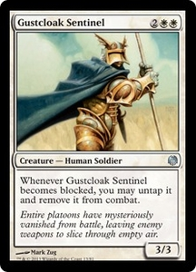 Magic: The Gathering Duel Decks: Heroes vs. Monsters Single Card White Uncommon #13 Gustcloak Sentinel