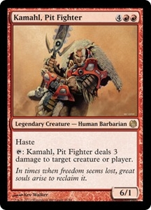 Magic: The Gathering Duel Decks: Heroes vs. Monsters Single Card Red Rare #16 Kamahl, Pit Fighter