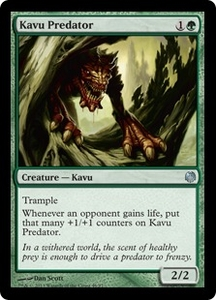 Magic: The Gathering Duel Decks: Heroes vs. Monsters Single Card Green Uncommon #46 Kavu Predator