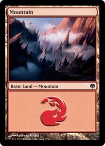 Magic: The Gathering Duel Decks: Heroes vs. Monsters Single Card Land Land #35 Mountain