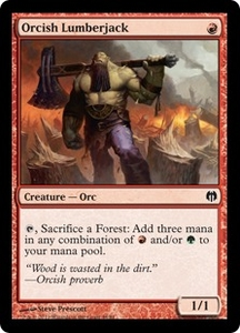 Magic: The Gathering Duel Decks: Heroes vs. Monsters Single Card Red Common #44 Orcish Lumberjack