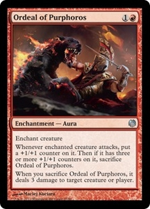Magic: The Gathering Duel Decks: Heroes vs. Monsters Single Card Red Uncommon #23 Ordeal of Purphoros