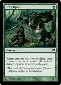 Magic: The Gathering Duel Decks: Heroes vs. Monsters Single Card Green Common #62 Prey Upon