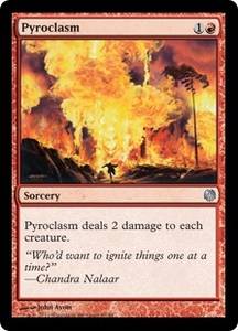 Magic: The Gathering Duel Decks: Heroes vs. Monsters Single Card Red Uncommon #63 Pyroclasm