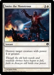 Magic: The Gathering Duel Decks: Heroes vs. Monsters Single Card White Common #29 Smite the Monstrous