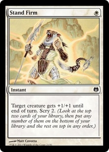 Magic: The Gathering Duel Decks: Heroes vs. Monsters Single Card White Common #21 Stand Firm