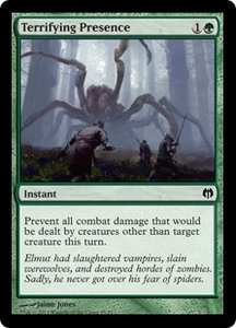 Magic: The Gathering Duel Decks: Heroes vs. Monsters Single Card Green Common #65 Terrifying Presence