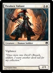 Magic: The Gathering Duel Decks: Heroes vs. Monsters Single Card White Common #6 Thraben Valiant