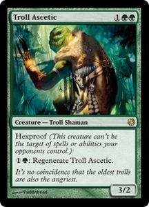 Magic: The Gathering Duel Decks: Heroes vs. Monsters Single Card Green Rare #50 Troll Ascetic