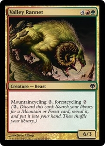 Magic: The Gathering Duel Decks: Heroes vs. Monsters Single Card Gold Common #58 Valley Rannet